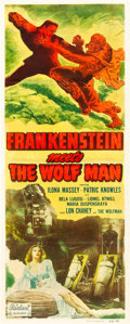 "Movie Posters:Horror, Frankenstein Meets the Wolf Man (Realart, R-1949). Insert (14"" X36"").. ..."