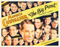 """Movie Posters:Musical, The Big Pond (Paramount, 1930). Half Sheet (22"""" X 28"""") Style B.. ..."""