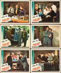 "Movie Posters:Mystery, Sherlock Holmes in Washington (Universal, 1943). Lobby Cards (6)(11"" X 14"").. ... (Total: 6 Items)"