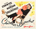 "Movie Posters:Comedy, Christmas in Connecticut (Warner Brothers, 1945). Half Sheet (22"" X 28"") Style A.. ..."