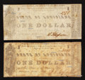 Obsoletes By State:Louisiana, Shreveport, LA- State of Louisiana $1 March 1, 1864 Two Examples. ... (Total: 2 notes)