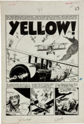 """Original Comic Art:Complete Story, George Evans Two-Fisted Tales #41 Complete 7-Page Story """"Yellow"""" Original Art (EC, 1955)...."""