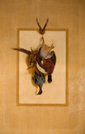 Fine Art - Painting, European:Antique  (Pre 1900), LUDWIG AUGUST BURCKHARDT (Swiss, 1807-1878). Suite of 4: Trompel'Oeil Trophies of the Hunt (A Hare and Two Snipes Hanging...(Total: 4 Items)