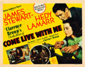 "Movie Posters:Comedy, Come Live with Me (MGM, 1941). Half Sheet (22"" X 28"").. ..."