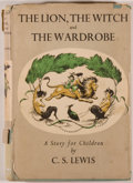 Books:Children's Books, C. S. Lewis. The Lion, The Witch, and the Wardrobe. London:Bles, [1950]. First edition. Octavo. [173] pages. Pu...