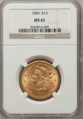Liberty Eagles: , 1884 $10 MS62 NGC. NGC Census: (32/18). PCGS Population (42/24).Mintage: 76,800. Numismedia Wsl. Price for problem free NG...