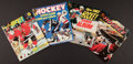 Hockey Cards:Lots, 1980's Topps and O-Pee-Chee Signed Sticker Albums Lot of 4 - WithLarge Array of Autographs!...