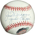 "Baseball Collectibles:Balls, Joe DiMaggio ""Yankees Clipper"" Single Signed Baseball. ..."
