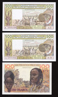 World Currency: , West African States.. ... (Total: 3 notes)