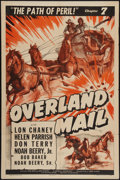 "Movie Posters:Serial, Overland Mail (Universal, 1942). One Sheet (27"" X 41"") Chapter 7 -- ""The Path of Peril"". Serial.. ..."