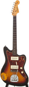 Musical Instruments:Electric Guitars, 1964 Fender Jazzmaster Sunburst Solid Body Electric Guitar, Serial# L26623....