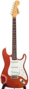 Musical Instruments:Electric Guitars, 1966 Fender Stratocaster Candy Apple Red Solid Body ElectricGuitar, Serial # 176850....