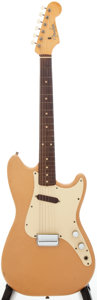 Musical Instruments:Electric Guitars, 1960 Fender Musicmaster Desert Sand Solid Body Electric Guitar,Serial #46426....
