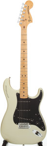 Musical Instruments:Electric Guitars, 1979 Fender 25th Anniversary Stratocaster Silver Solid BodyElectric Guitar, Serial # 255687....