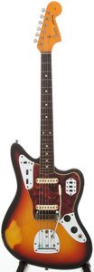 Musical Instruments:Electric Guitars, 1965 Fender Jaguar Sunburst Solid Body Electric Guitar, Serial #L71678....