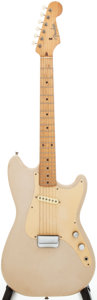 Musical Instruments:Electric Guitars, 1959 Fender Musicmaster Dessert Sand Solid Body Electric Guitar,Serial # 026519....