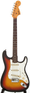 Musical Instruments:Electric Guitars, 1967 Fender Stratocaster Sunburst Solid Body Electric Guitar,Serial # 194094....