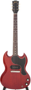 Musical Instruments:Electric Guitars, 1965 Gibson SG Junior Cherry Solid Body Electric Guitar, Serial #263103....
