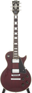 Musical Instruments:Electric Guitars, 1981 Gibson Les Paul Custom Wine Red Solid Body Electric Guitar, Serial # 81491614....