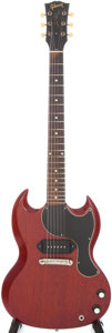 Musical Instruments:Electric Guitars, 1963 Gibson Les Paul Junior Cherry Solid Body Electric Guitar, Serial # 104867....
