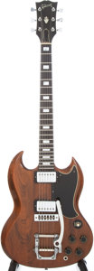 Musical Instruments:Electric Guitars, 1975 Gibson SG Standard Walnut Solid Body Electric Guitar, Serial#574298....