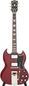 Musical Instruments:Electric Guitars, 1961 Gibson SG Les Paul Standard Cherry Solid Body Electric Guitar,Serial # 29585....