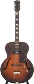 Musical Instruments:Electric Guitars, Circa 1946-1950 Gibson ES-125 Sunburst Semi-Hollow Body ElectricGuitar....