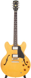 Musical Instruments:Electric Guitars, 1981 Gibson ES-335 DOT Reissue Natural Semi-Hollow Body ElectricGuitar. Serial # 82591002....
