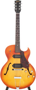 Musical Instruments:Electric Guitars, 1964 Gibson ES-125TDC Cherry Sunburst Semi-Hollow Body ElectricGuitar, Serial # 189209...