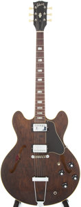 Musical Instruments:Electric Guitars, 1971/1972 Gibson ES-335TD Walnut Semi-Hollow Body Electric Guitar,Serial # 751095...
