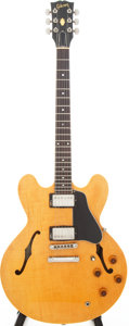 Musical Instruments:Electric Guitars, 1984 Gibson ES-335 Dot Custom Shop Re-Issue Blonde Semi-Hollow BodyElectric Guitar, Serial # 80524734...