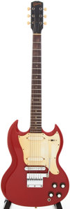 Musical Instruments:Electric Guitars, 1966/1967 Gibson Melody Maker Solid Body Cardinal Red ElectricGuitar, Serial # 005469...