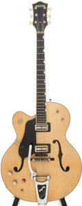 Musical Instruments:Electric Guitars, 1963 Gretsch Country Club Left-Handed Blonde Semi-Hollow Body Electric Guitar, Serial # 59343...