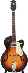 Musical Instruments:Electric Guitars, 1963 Gretsch Anniversary Sunburst Semi-Hollow Body Electric Guitar,Serial # 57758...