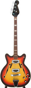 Musical Instruments:Bass Guitars, 1967 Fender Coronado II Sunburst Electric Bass Guitar, Serial # 503049...