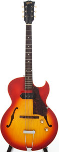 Musical Instruments:Electric Guitars, 1966 Gibson ES-125TC Sunburst Semi-Hollow Electric Guitar, Serial #810513....