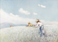DAWSON DAWSON-WATSON (1864-1939) The Cotton Pickers, 1937 Oil on canvas 22in. x 30in. Signed and dated lower right