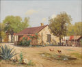 Texas:Early Texas Art - Impressionists, PORFIRIO SALINAS (1910-1973). Irish Flats San Antonio. Oilon canvas. 16in. x 20in.. Signed lower left. In 1928, empre...
