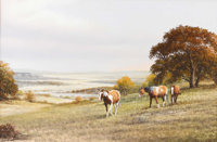 JACK BRYANT, SR. (b. 1928) Horses in Pasture Oil on canvas 24in. x 36in. Signed lower right