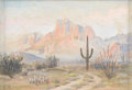 Texas:Early Texas Art - Regionalists, E. L. BOONE (1881-1952). Untitled Desert Scene. Oil on canvasboard.5in. x 8in.. Signed lower left. A delightful small-sca...