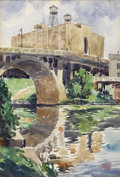 Paintings, WILLIAM MCKENNA (1871-1943). Untitled Waterworks on Guadalupe, 1938. Watercolor. 20.5in. x 13.5in.. Signed and dated lower r...