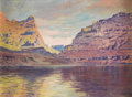 Paintings, E. L. BOONE (1883-1952). Lake Mead, Arizona. Oil on canvasboard. 12in. x 16in.. Signed lower right. Titled verso. E. L...