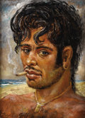 Texas:Early Texas Art - Regionalists, LLOYD GOFF (1908-1982). Acapulco Beach Boy, late 1930's orearly 1940's. Oil on masonite. 9.5in. x 13in.. Signed lower l...