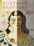 "Texas:Early Texas Art - Regionalists, OLIN TRAVIS (1888-1975). Suggested jacket design for the book""Portrait Painting As An Art"". Oil on artistboard. 19.75in..."