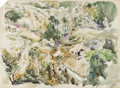 Texas:Early Texas Art - Modernists, XAVIER GONZALEZ (1898-1993). Tamauchsele, Mexico, 1943.Watercolor. 20.5in. x 27.5in.. Signed, dated, and titled lower r...