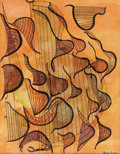 Texas:Early Texas Art - Modernists, AMY FREEMAN LEE (1914-2004). Autumn Harps. Watercolor. 13in.x 10in.. Signed lower right. Titled verso. An internation...
