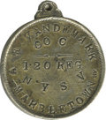 "Military & Patriotic:Civil War, A.E. Vandemark Dogtags. ""Wounded at Gettysburg"" I.D. disc or ""Dogtag"" belonging to A. E. Vandemark, Co. C, 120th Reg. N.Y.S...."