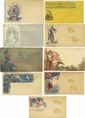 Military & Patriotic:Civil War, Lot of 64 Civil War Patriotic Covers With Miscellaneous Themes A colorful assortment of Civil War-era covers portraying a va... (Total: 64 )