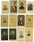 "Photography:CDVs, Dealers Lot of Thirty Confederate States Related Cartes de Visite. Seven ""from life"" photographs and twenty-three engrav... (Total: 30 items)"