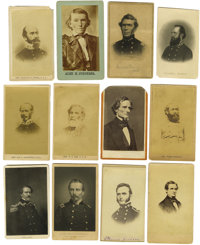 """Dealers Lot of Thirty Confederate States Related Cartes de Visite. Seven """"from life"""" photographs and twenty-th..."""